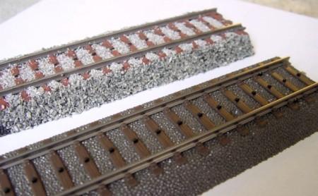 C-Gleis Schotterung